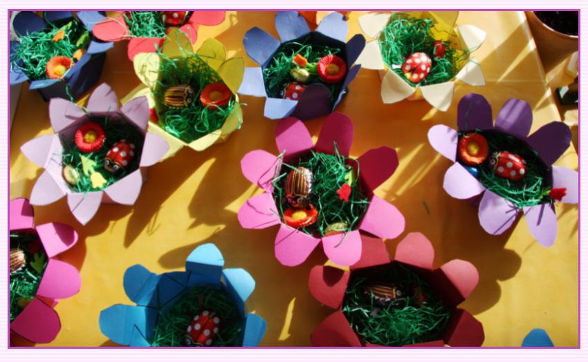 Bastelanleitung Eine Papierblume Als Osterkörbchen