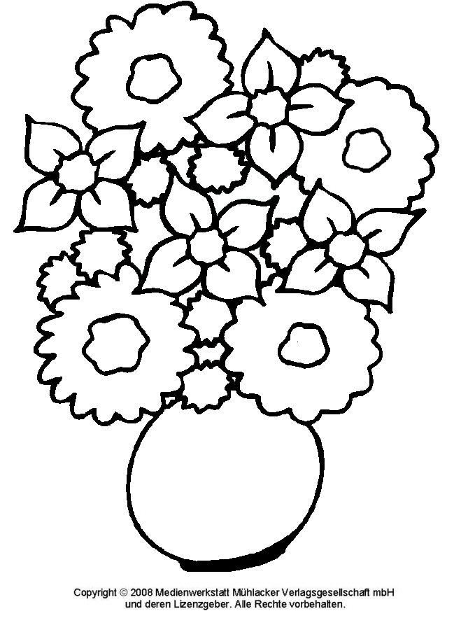 Ausmalbild Blumenstrauß 1 Medienwerkstatt Wissen 2006 2017