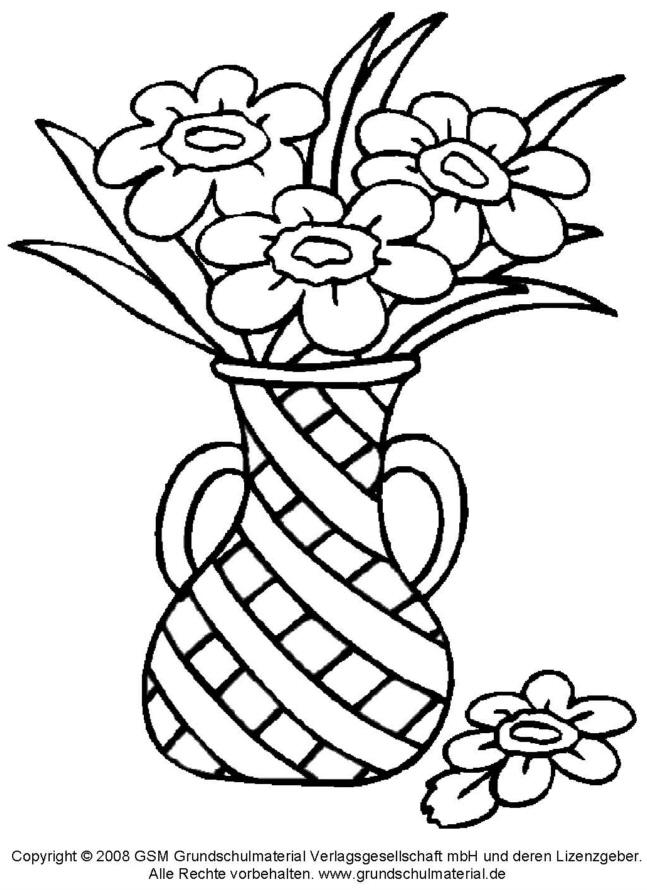 Ausmalbild Blumenstrauß 2 Medienwerkstatt Wissen 2006 2017