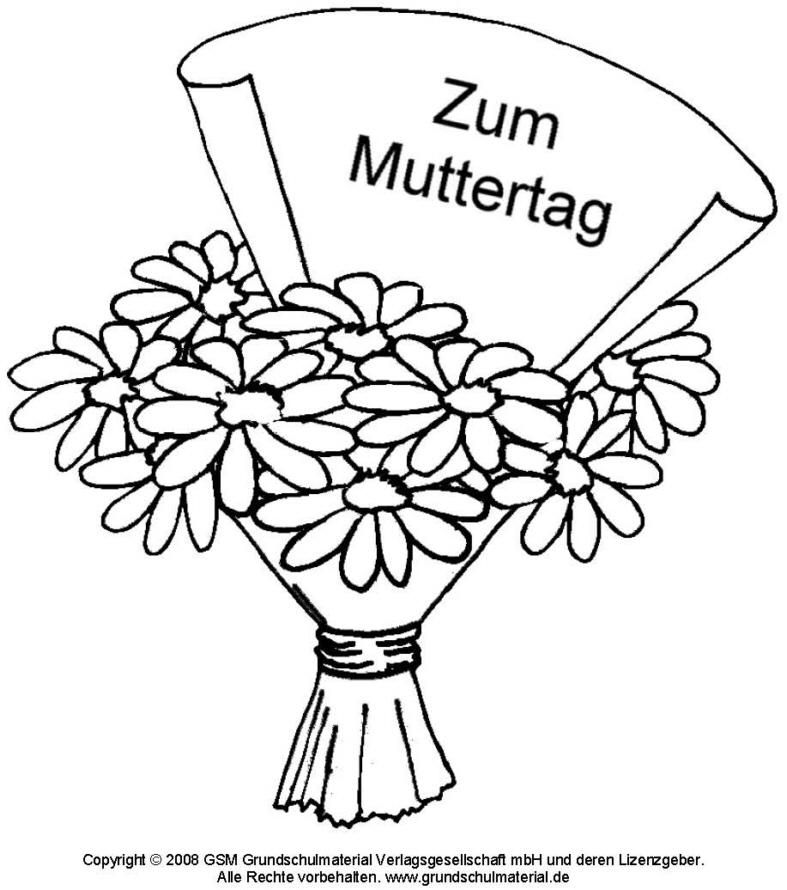 Ausmalbild Blumenstrauß 3 Medienwerkstatt Wissen 2006 2017