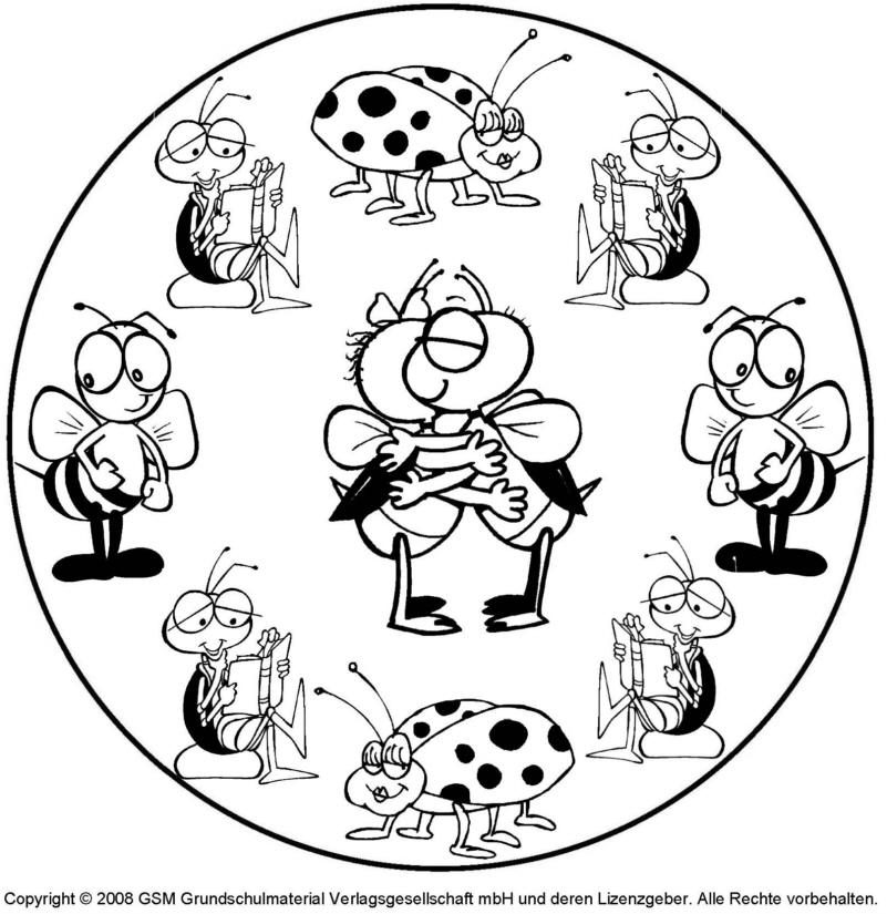 Tier-Mandala 4 - Medienwerkstatt-Wissen © 2006-2017 Medienwerkstatt