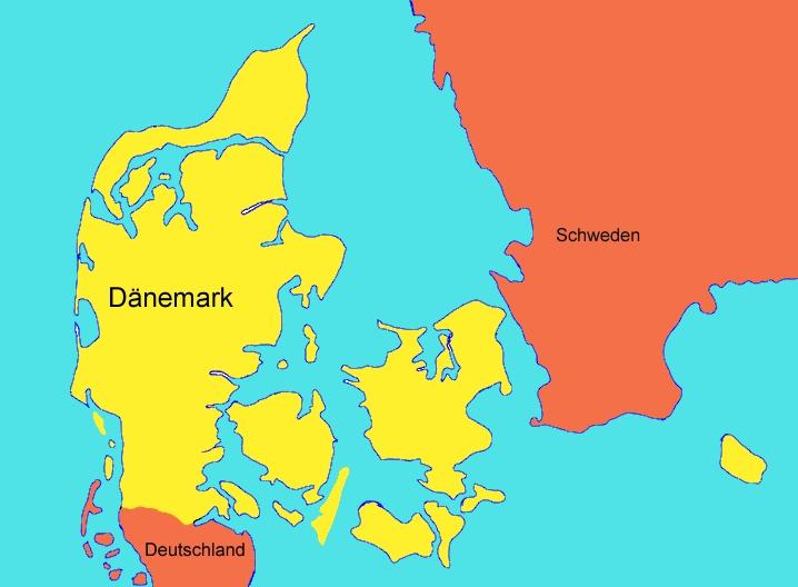 dänemark karte