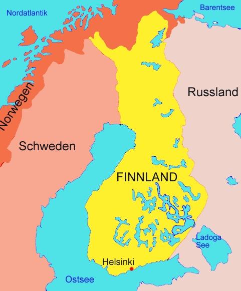 Landkarte Von Finnland Medienwerkstatt Wissen C 2006 2017
