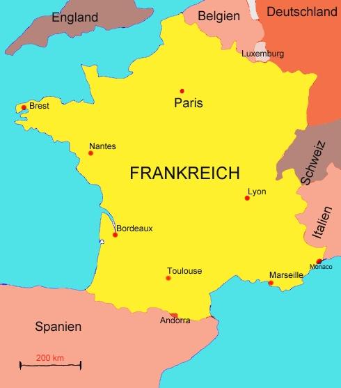 Landkarte Von Frankreich Medienwerkstatt Wissen C 2006 2017