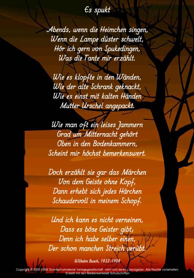Wilhelm busch gedichte drei tanten