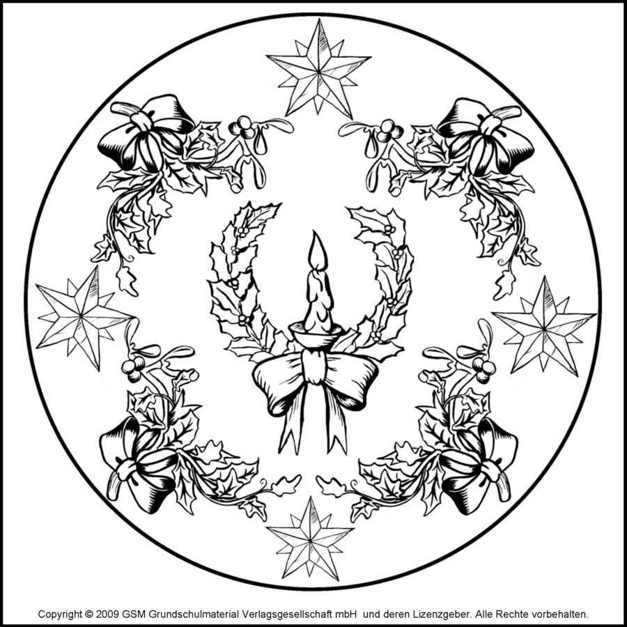 weihnachts-mandala 13 - medienwerkstatt-wissen © 2006-2017