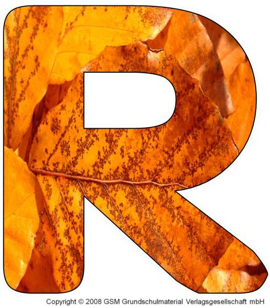 buchstaben zum ausdrucken r