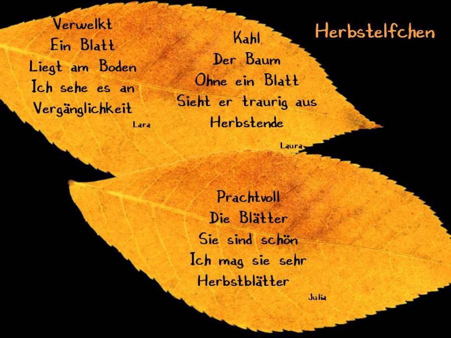 Herbst Elfchen Von Schulern 1 Medienwerkstatt Wissen C 2006 2017