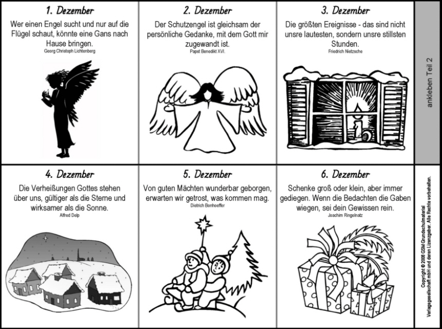 Ein Adventskalender Als Leporello Ausmalbilder Seite 1