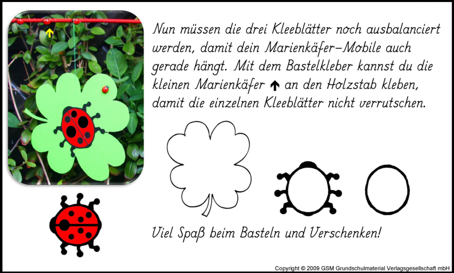 Marienkäfer Mobile Bastelanleitung Medienwerkstatt