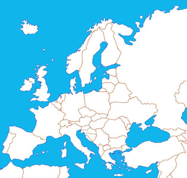 Fidedivine 25 Luxus Karte Europa Ohne Beschriftung