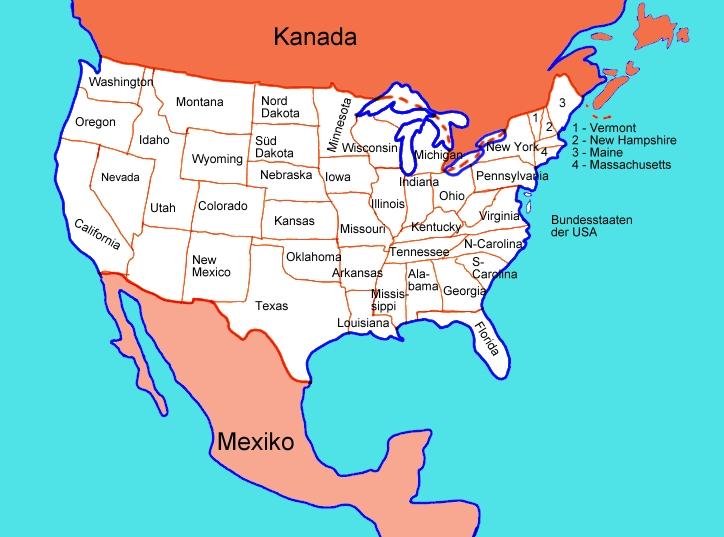 Karte Bundesstaaten Der Usa Medienwerkstatt Wissen C 2006 2017