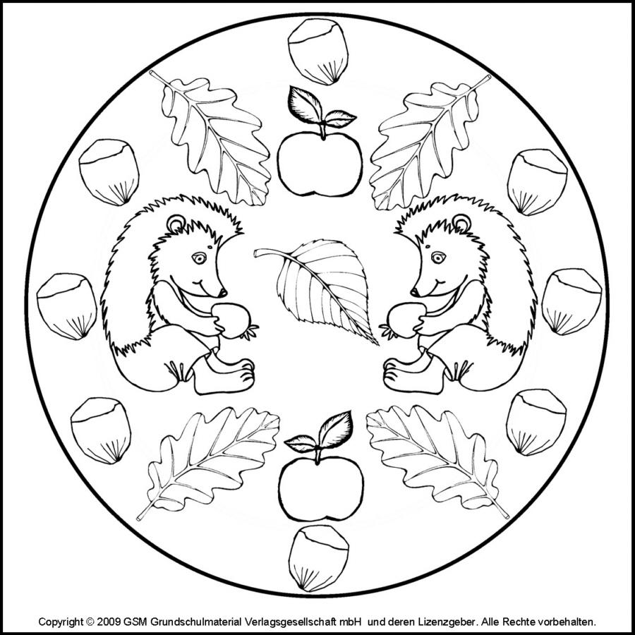 Herbst Mandala Igel 4 Medienwerkstatt Wissen 2006 2017