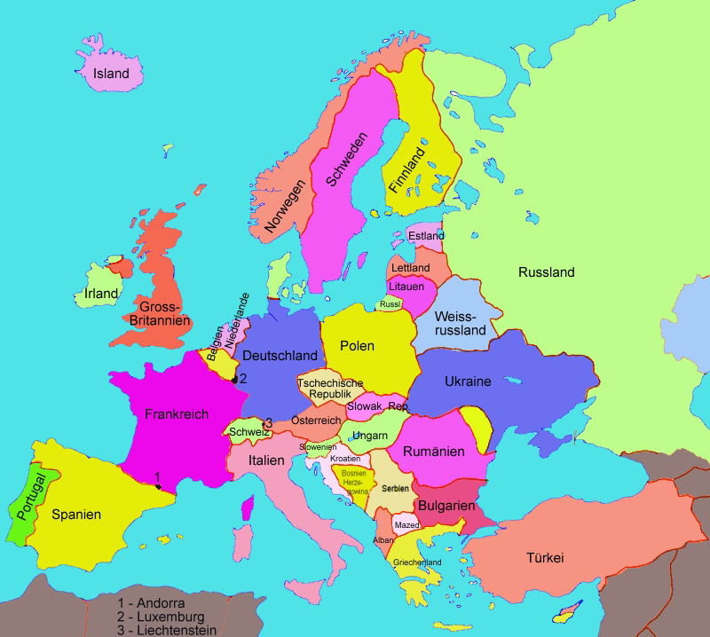karte europa länder Karte von Europa: Staaten   Medienwerkstatt Wissen © 2006 2017  karte europa länder