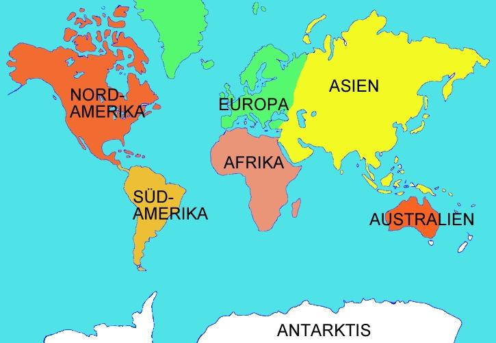 Die 7 Kontinente Der Erde — hylen.maddawards.com