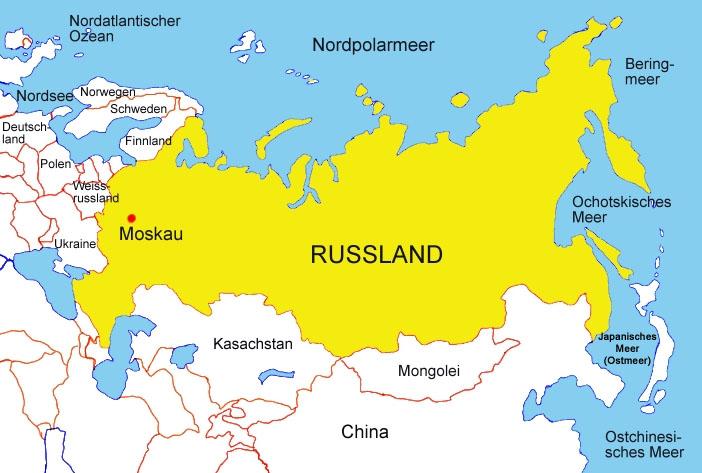 russland karte Karte von Russland   Medienwerkstatt Wissen © 2006 2017