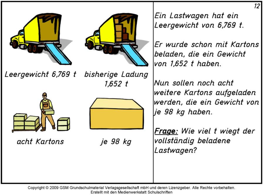 Sachaufgaben / Klasse 4 - 12 - Medienwerkstatt-Wissen © 2006-2017 ...