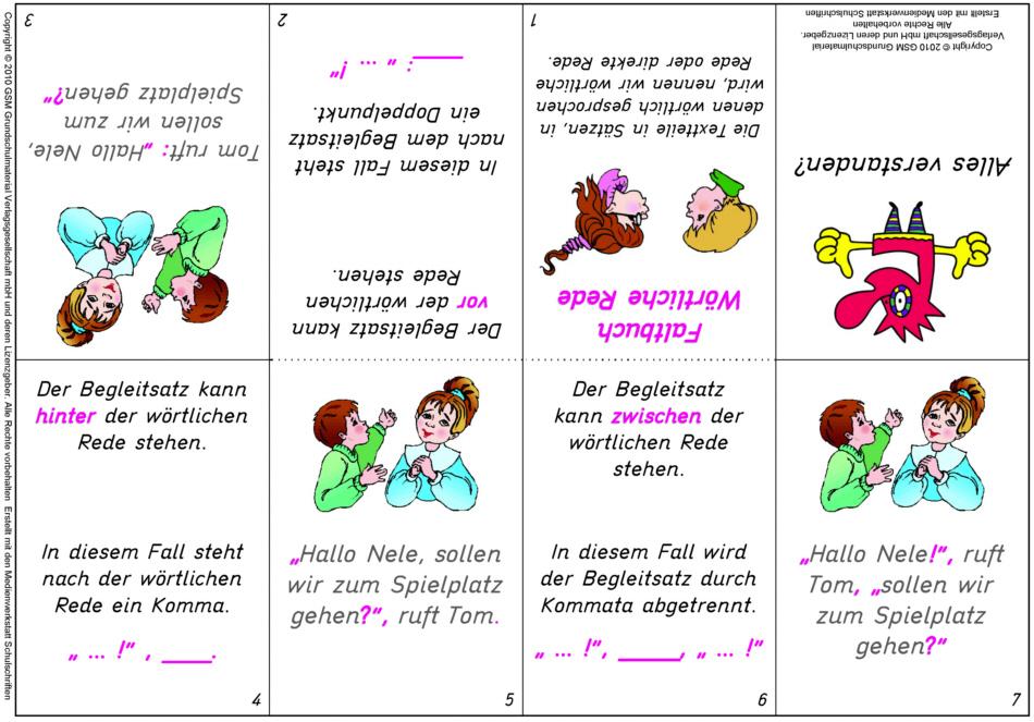 Hosentaschenfaltbuch zur wörtlichen Rede - Medienwerkstatt-Wissen ...