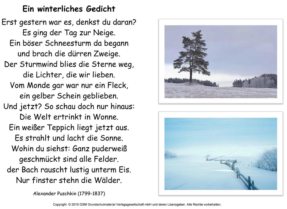 Ein Winterliches Gedicht Alexander Puschkin