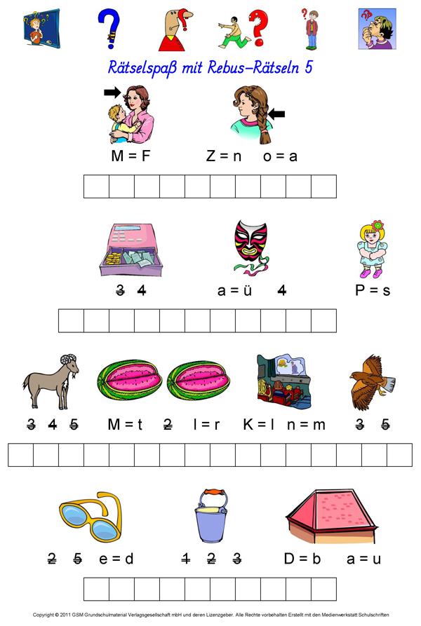 Rebus-Rätsel 5 - Medienwerkstatt-Wissen © 2006-2017 Medienwerkstatt