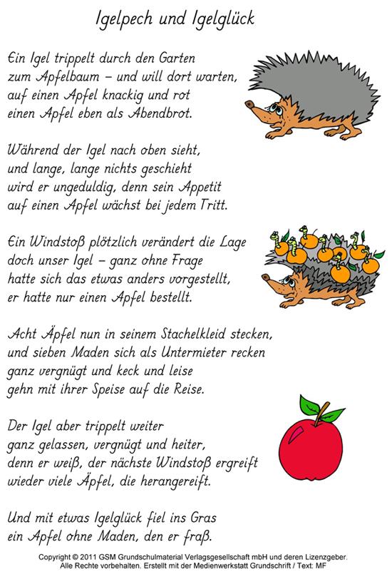 Gedicht über glück für kinder