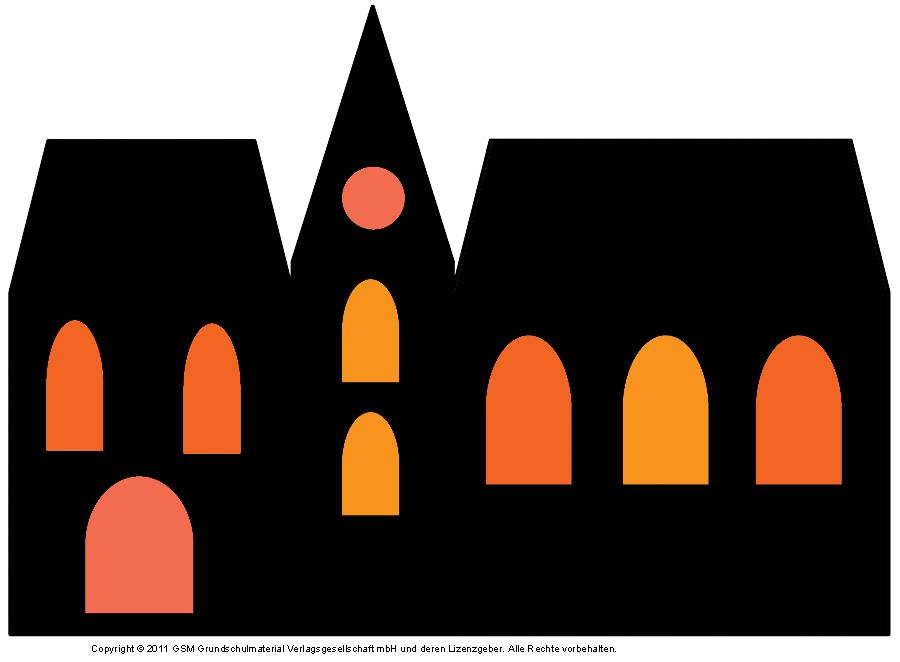 Fensterbild Häuser Mit Transparentpapier 4 Medienwerkstatt Wissen