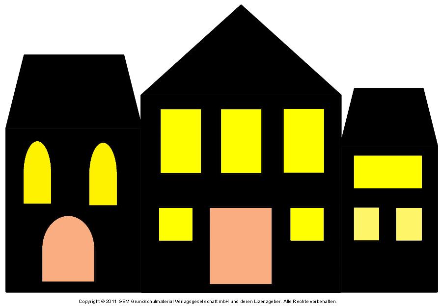 fensterbild häuser mit transparentpapier 5