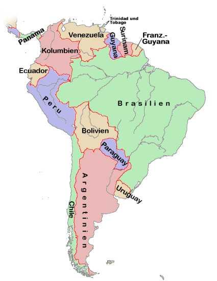 Lateinamerika Karte Länder.Südamerika Geographisch Medienwerkstatt Wissen 2006 2017