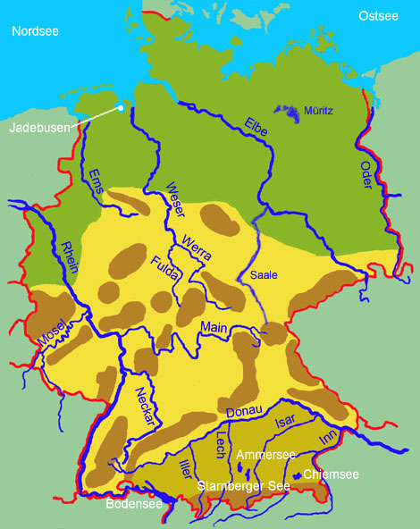 deutsche flüsse karte Übersicht über die deutschen Gewässer   Medienwerkstatt Wissen  deutsche flüsse karte