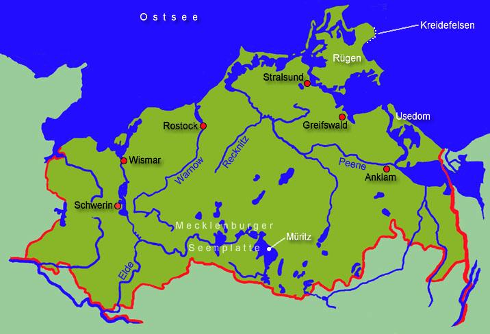 Karte Seen Mecklenburgische Seenplatte.Mecklenburg Vorpommern Allgemein Medienwerkstatt Wissen 2006
