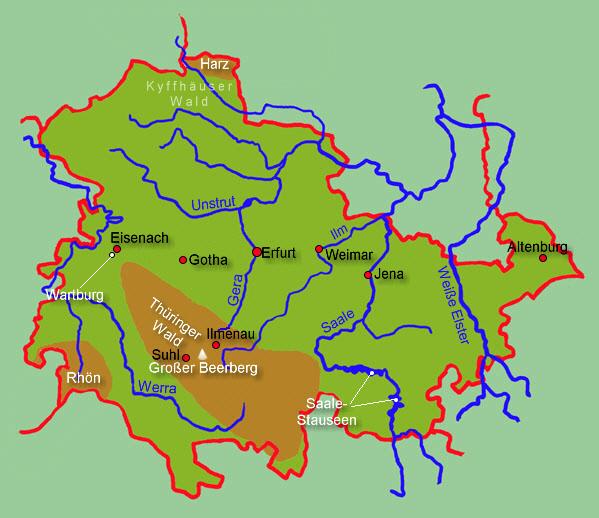 Bildergebnis für thüringen landkarte