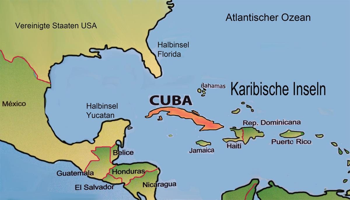 kuba karte Karte von Kuba  2   Medienwerkstatt Wissen © 2006 2017 Medienwerkstatt kuba karte