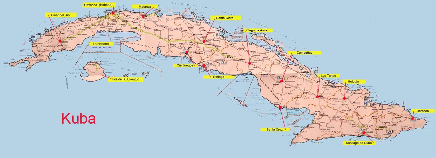Karte Kuba.Karte Von Kuba 2 Medienwerkstatt Wissen 2006 2017 Medienwerkstatt