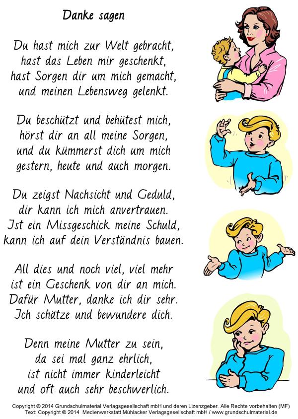 Danke Sagen Gedicht Zum Muttertag Medienwerkstatt Wissen