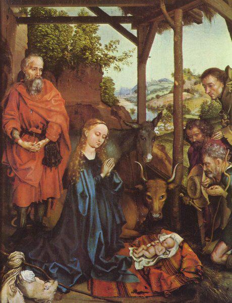 Hirten Bilder Weihnachten.Martin Schongauer Anbetung Der Hirten Medienwerkstatt Wissen