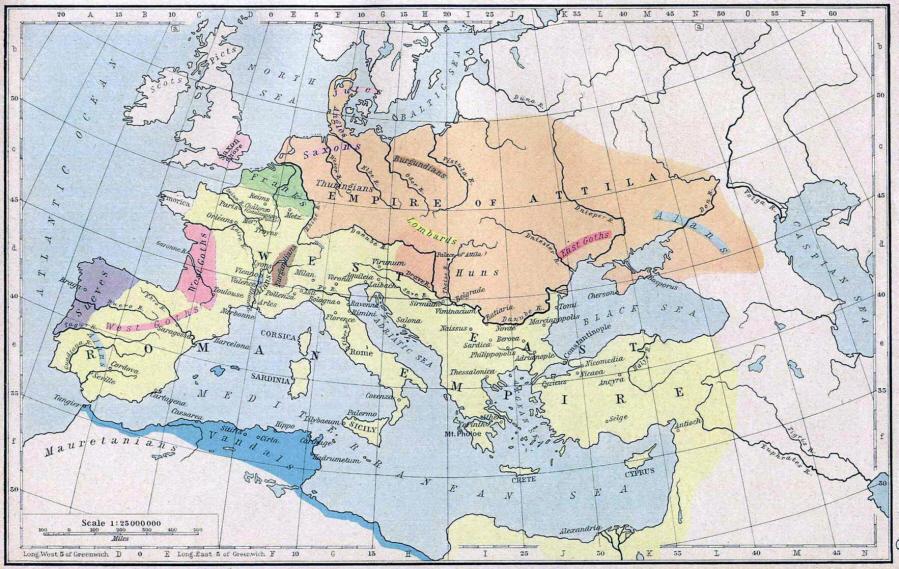 Römisches Reich Karte.Karte Die Ausdehnung Des Römischen Reiches Um 450 Medienwerkstatt