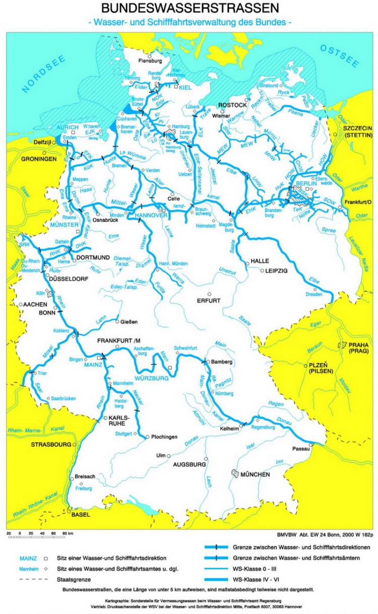 Bundeswasserstrassen Karte Medienwerkstatt Wissen C 2006 2017