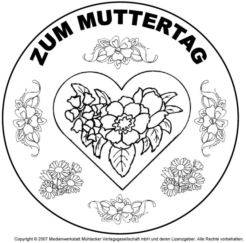 Mandala zum Muttertag 10 - Medienwerkstatt-Wissen © 2006-2017 ...