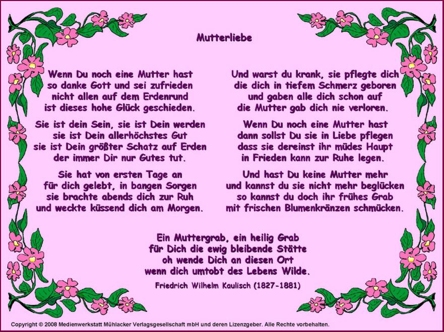 Mutterliebe Friedrich Wilhelm Kaulisch Medienwerkstatt