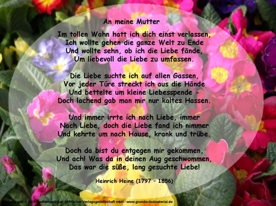 Gedicht fur unsere mutter