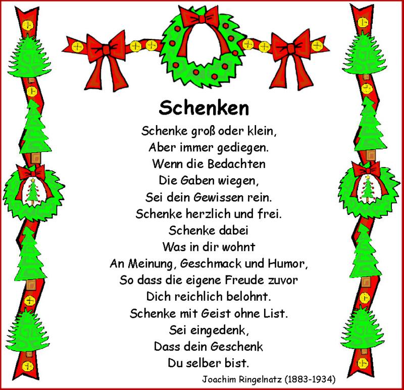 Weihnachtsgedichte Zum Abschreiben.Schenken Ringelnatz Medienwerkstatt Wissen 2006 2017