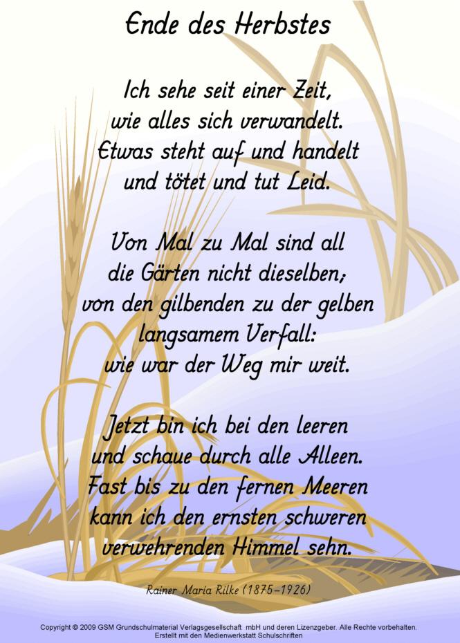 Rilke gedichte garten