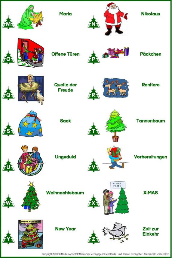 Abc Der Weihnachtswörter Medienwerkstatt Wissen 2006 2017