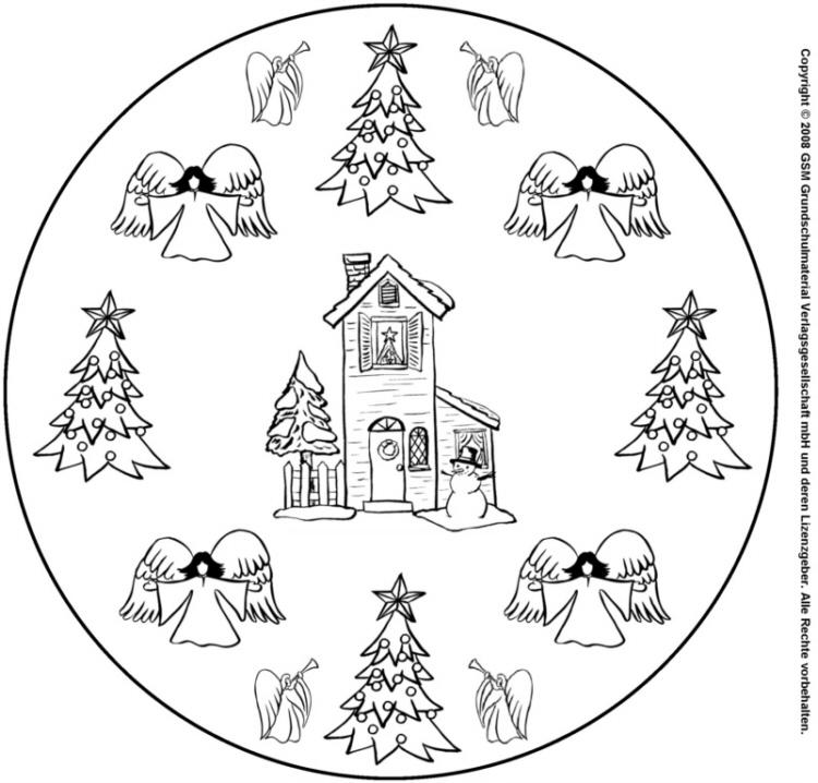 weihnachts-mandala 3 - medienwerkstatt-wissen © 2006-2021