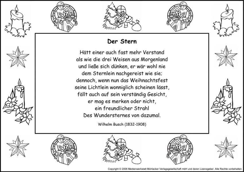 Weihnachtsgedichte Von Wilhelm Busch.Der Stern Wilhelm Busch Medienwerkstatt Wissen 2006 2017