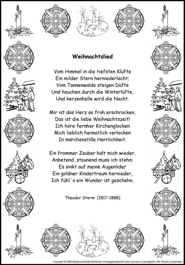 Gedichte theodor storm weihnachten